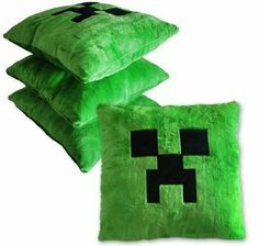 "Easy DIY pillow. Amazon.com: Minecraft Creeper Green Pillow Cushion 15"" X 15"" Inchs: Toys & Games $20.50"