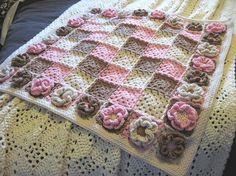 Crochet BABY BLANKETS - Mantas para beb� by malucha