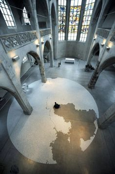 膨大な塩の緻密さが凄い!山本基による「塩」のインスタレーションアート 写真20枚