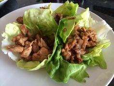Chicken lettuce wraps (recipe from P. F. Chang's)