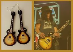Guitar Earrings inspired by Slash's intrument by nikajon on Etsy