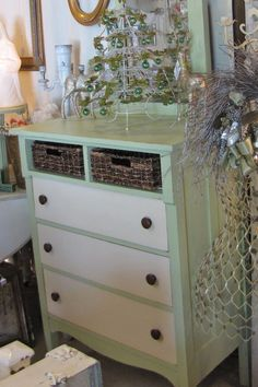 Vintage and Company - Dresser with baskets for drawers! (sold)