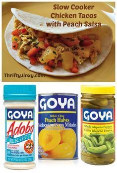 slow cooker chicken tacos with peach salsa recipe peach salsa recipes ...