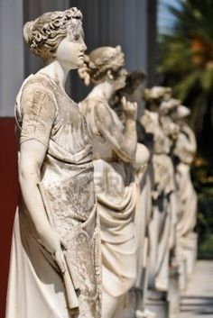 Greek Muses In ancient Greece. The 9 Muses were considered sources of knowledge and providers of inspiration to creators of literature and art. Calliope (Epic Poetry) Clio (History) Erato (Love Poetry) Euterpe (Music) Melpomene (Tragedy) Polyhymnia (Hymns and sacred poetry) Terpsichore (Dance) Thalia (Comedy) Urania (Astronomy)