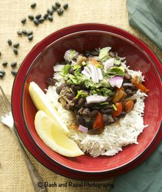 Cuban Black Beans On Rice - Vegan!
