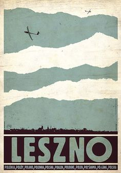 Leszno, Gliders, Polish tourist Poster