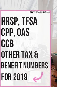 Here are the updated numbers for RRSP TFSA CPP OAS GIS Child Benefits and other tax and benefit information that are useful for Canadians in Savings Planner, Budget Planner, Ways To Save Money, Money Saving Tips, Money Tips, Finance Blog, Retirement Planning, Retirement Strategies, Retirement Money