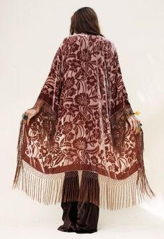 What I wouldnt do !!! Velvet fringe kimono