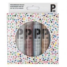 Perlenmaker Pen Set Glitter 6x30ml