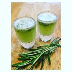 Health shot! Keeps colds at bay with this rosemary lemon and ginger shot - rosemary has oodles of flavonoids fantastic for disease prevention #nurtureandgrow #coldremedies #homeremedies #detox #antioxidants #superfood #detox #cleanse #health #healthyfood #restandrestore #herbs #plants #iloveherbs #vegan #plantbased #nutrition #e17 #walthamstow