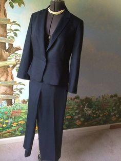 Talbot Petite Blue Long Sleeve women Pant Suit Size 12P #Talbots #PantSuit