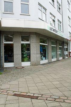 Small strip of the Berlin Wall in the sidewalk. Boyenstraße / Chausseestraße, Berlin, Germany