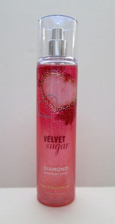 Bath and Body Works Velvet Sugar Diamond Shimmer Mist Fragrance Full Size 8 oz