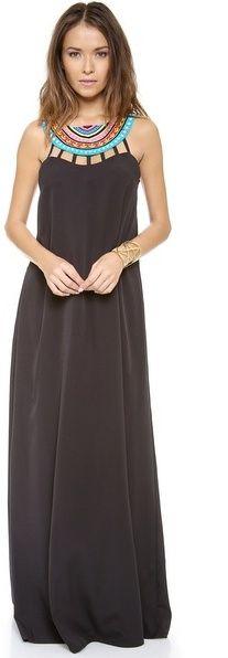 232 Mara Hoffman Laser Cut Beaded Neck Maxi Dress on shopstyle.co.uk