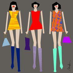Louis Vuitton Illustration by Monica Ahanonu