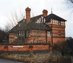 #Watson #Fothergill - Walton House, No. 39 Newcastle Drive, #Nottingham. This house stands on a very difficult, but imposing plot in the Park. The corner site falls sharply away, but Fothergill's design makes full use of the natural shape of the site.  The square capped, half-timbered tower is typical of his later Old English style.