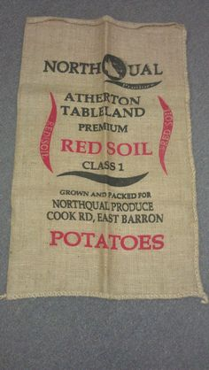 Atherton Tablelands, Hessian, Packaging, Printed, Business, Bag, Products, Prints, Store