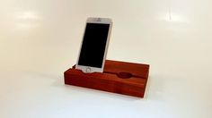 Double phone stand. Smartphone stand. iPhone stand. Wood