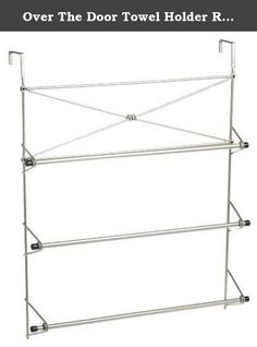 Over The Door Towel Holder Rack Organizer Bathroom Bath Rack Bars Hanger Dryer. Product Details: Instead of drilling holes into your wall to install a new towel bar, simply hang the Cross Style Towel Rack on your door. This rack turns wasted space into valuable storage space on your door. The rust-resistant satin nickel finish, and 3 bar towel storage adds distinctive aesthetic appeal and functionality to your bathroom. Unit can be easily moved to a bedroom door if desired. Step by step...