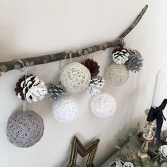 100均DIY♪【コットンボールライトの作り方,アレンジ,飾り方】手作りクリスマス雑貨でインテリアを楽しもう♪ハロウィンや子供部屋にもおすすめ♪
