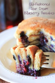 Old-Fashioned Sour Cream Blueberry Pancakes - No. 2 Pencil