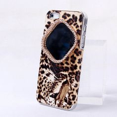 NewYorkscene | Fashion Rhinestone Around Mirror On Leopard Case For Iphone 4/4s/5 | Online Store Powered by Storenvy