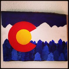 Colorado flag with acrylic paints :) did it myself