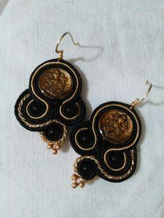 #soutache #piccolidettaglicreazioni #earrings #handmade #botton