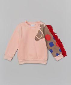Look what I found on #zulily! Pink Horse Sleeve Sweatshirt - Infant, Toddler & Girls #zulilyfinds