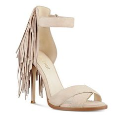 c7d56c9b89 Beige Hustle Fringe Back Open Toe Sandals