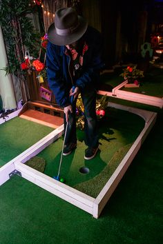 The best indoor & outdoor Crazy Golf venues in London (North, South, East & West) ⛳ Ideal for parties, mini golf for kids-families & corporate events. Crazy Golf, Things To Do In London, Baseball Field, Corporate Events, Flower Power, Stuff To Do, Golf Courses, Action, Flowers