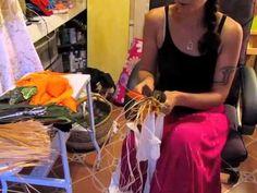 how to make a tahitian hip lei - YouTube