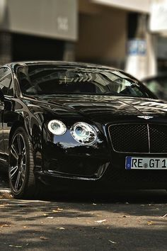 Bentley Continental GT Luxury Car Brands, Luxury Car Rental, Cool Sports Cars, Sport Cars, Nice Cars, Bentley Gt, Black Bentley, Bentley Continental Gt Speed, Lux Cars