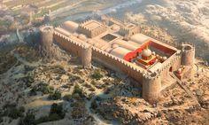 Templo fortificado de Mes Aynak (Afganistán). Cortesía de Rocío Espín Piñar. La mejor colección de láminas militares en http://www.elgrancapitan.org/foro/