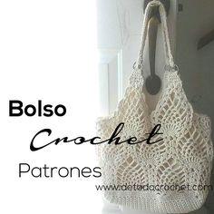 Bolso crochet con punto piñas