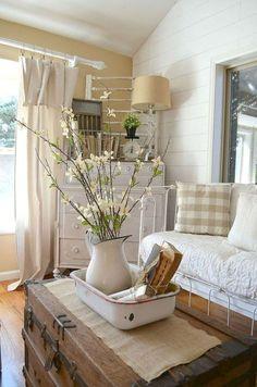 51 Cozy Farmhouse Living Room Makeover Decor Ideas
