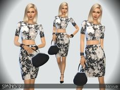 The Sims Resource: Spring 2 dress by Paogae • Sims 4 Downloads