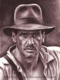Indiana Jones by Stunning Pencil Drawings from TortilloN