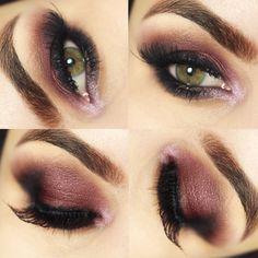 Tutorial – olho esfumado marsala