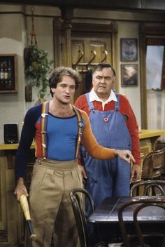 Robin Williams in Mork & Mindy (1978) with Jonathan Winters. These two men made me laugh harder than anyone ever has.