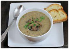 Нежирный грибной крем-суп из шампиньонов