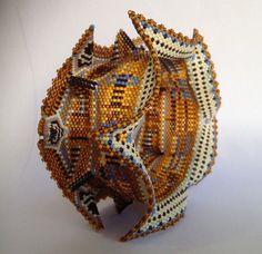 winged and horned beaded bangle by ZiaLolaBeadsIt on Etsy