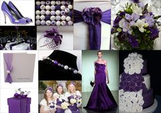 Purple Inspiration Board, Purple weddings
