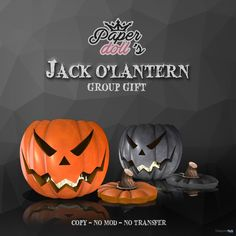 Jack O\'Lantern September 2017 Group Gift by Paperdoll\'s | Teleport Hub - Second Life Freebies