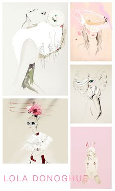 Illustrations by Lola Donoghue   melaniebiehle.com #art #illustration #fashion