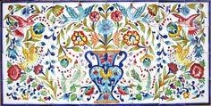 DECORATIVE CERAMIC TILES: LARGE MOSAIC KITCHEN BACKSPLASH MURAL ART 48in x 24in #artsexotiques