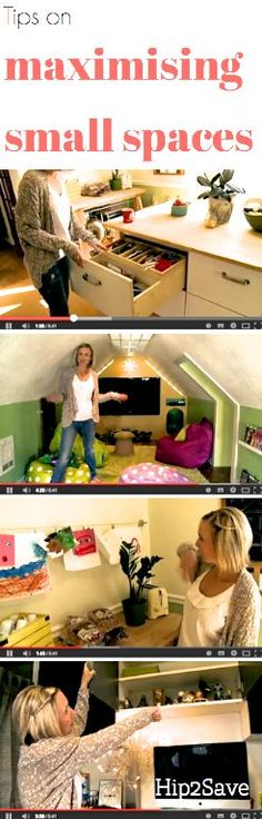 Collin of Hip2Save shows you how she maximizes the small spaces in her house.