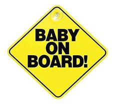 #Streetwize yellow baby on board child #safety car rear window sign #badge decal,  View more on the LINK: 	http://www.zeppy.io/product/gb/2/351808539195/