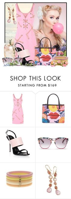 """Anything is possible with sunshine and a little pink"" by doozer ❤ liked on Polyvore featuring Moschino, Prada, Giuseppe Zanotti, Wildfox, Chanel and Ippolita"