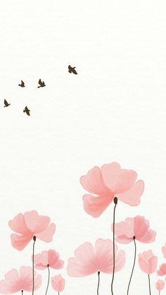 Cute Flower Wallpaper For Iphone Flower Wallpaper, Screen Wallpaper, Trendy Wallpaper, Wallpaper Quotes, Watercolor Wallpaper Phone, Wallpaper Wallpapers, Iphone Wallpapers, Simple Phone Wallpapers, Cute Images For Wallpaper